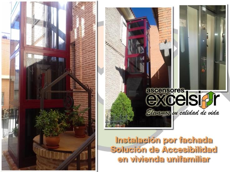 ascensores excelsior por fachada unifamiliar illescas