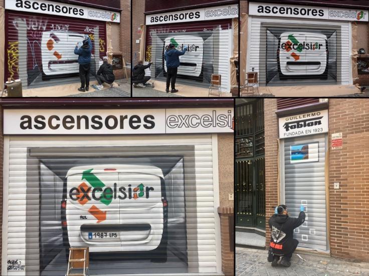 GRAFFITIS CIERRES ASCENSORES EXCELSIOR POZUELO DE ZARZON.jpg