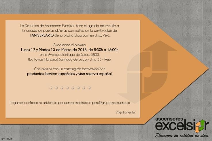 INVITACION SHOWROOM EXCELSIOR 1ER ANIVERSARIO PERU RRSS.jpg